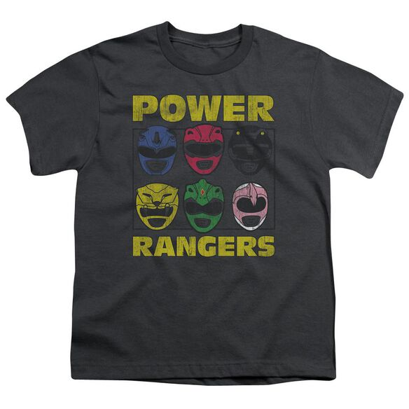 Power Rangers Ranger Heads Short Sleeve Youth T-Shirt
