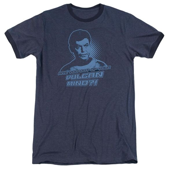 St Original Vulcan Mind Adult Heather Ringer Navy