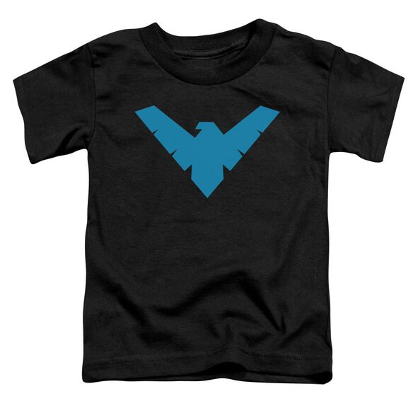 Batman Nightwing Symbol Short Sleeve Toddler Tee Black Md T-Shirt