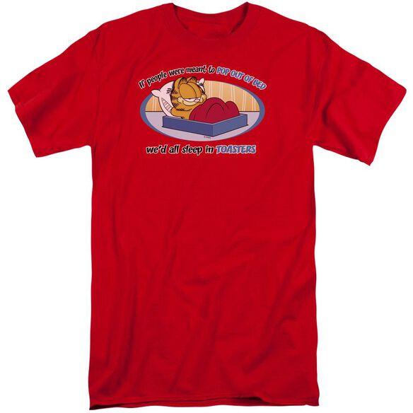Garfield Pop Out Of Bed Short Sleeve Adult Tall T-Shirt