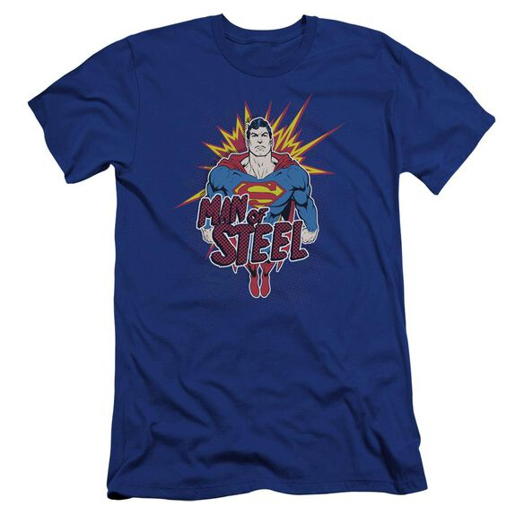 Superman Steel Pop Premuim Canvas Adult Slim Fit Royal