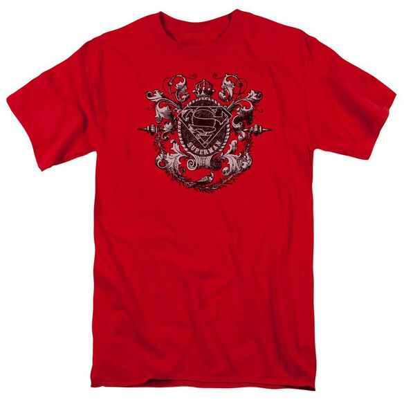 SUPERMAN ALL HAIL SUPERMAN - S/S ADULT 18/1 - RED T-Shirt