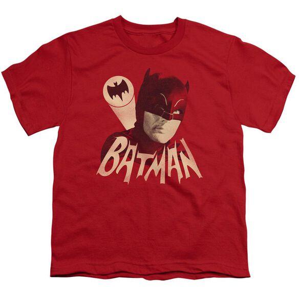 Batman Classic Tv Bat Signal Short Sleeve Youth T-Shirt