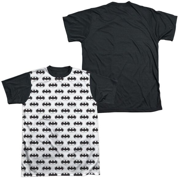 Batman Bats All Over Short Sleeve Adult Front Black Back T-Shirt