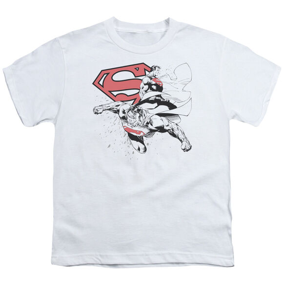 SUPERMAN DOUBLE THE POWER - S/S YOUTH 18/1 - WHITE T-Shirt