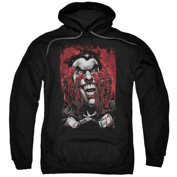 Batman Blood In Hands Adult Pull Over Hoodie