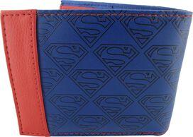 Superman Debossed Logos Bifold Wallet