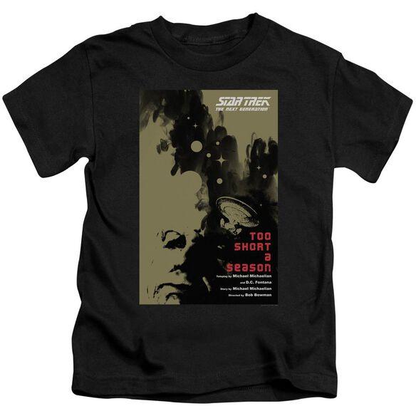 Star Trek Tng Season 1 Episode 16 Short Sleeve Juvenile Black Md T-Shirt