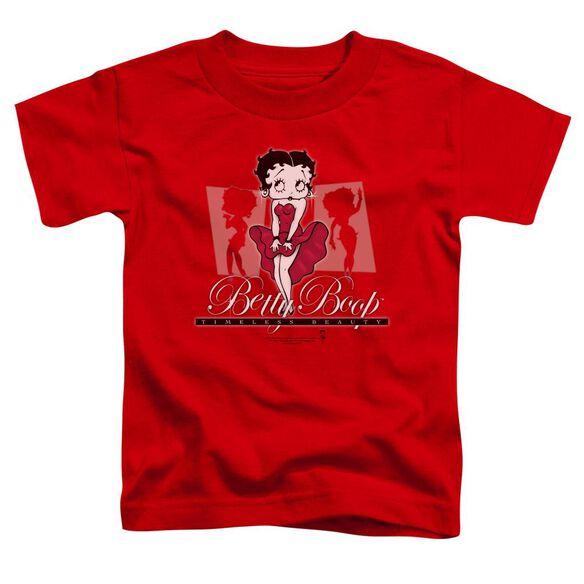 Betty Boop Timeless Beauty Short Sleeve Toddler Tee Red Md T-Shirt