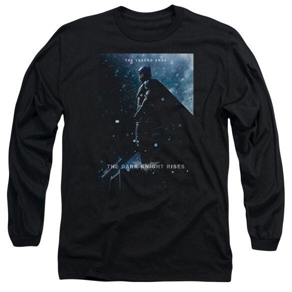 Dark Knight Rises Batman Poster Long Sleeve Adult T-Shirt