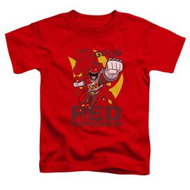 Power Rangers Go Red Short Sleeve Toddler Tee Red T-Shirt