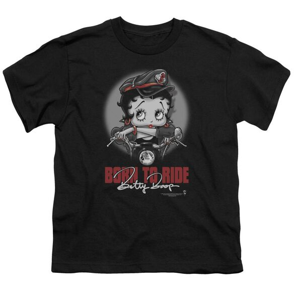 Betty Boop Born To Ride Short Sleeve Youth T-Shirt