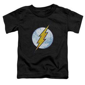 Dc Flash Flash Neon Distress Logo Short Sleeve Toddler Tee Black Lg T-Shirt