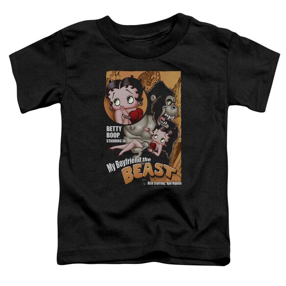 Betty Boop Boyfriend The Beast Short Sleeve Toddler Tee Black Md T-Shirt