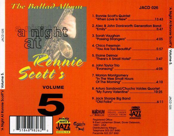 Vol. 5 Night At Ronnie Sc