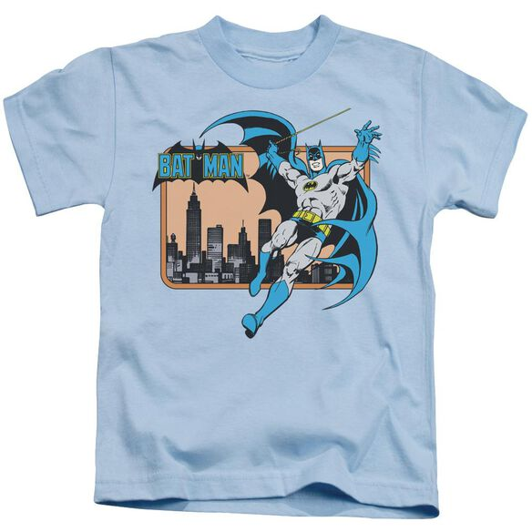 Dc Batman In The City Short Sleeve Juvenile Light Blue T-Shirt