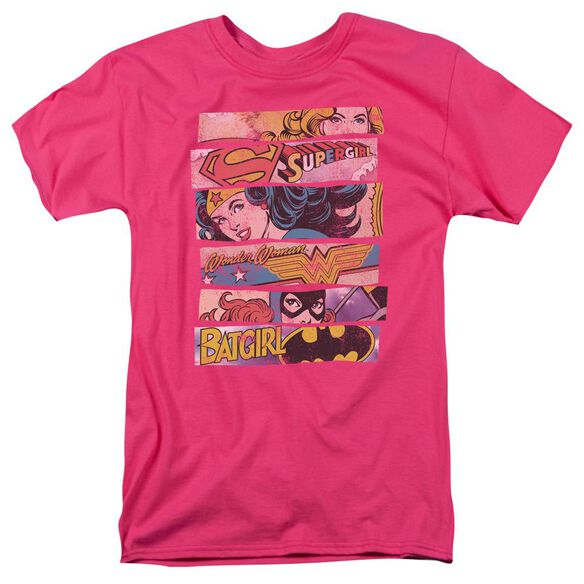Dc Three Of A Kind Short Sleeve Adult Hot Pink T-Shirt