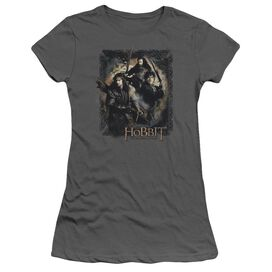 Hobbit Weapons Drawn Short Sleeve Junior Sheer T-Shirt