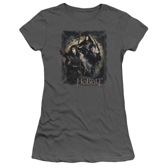 Hobbit Weapons Drawn Short Sleeve Junior Sheer T-Shirt