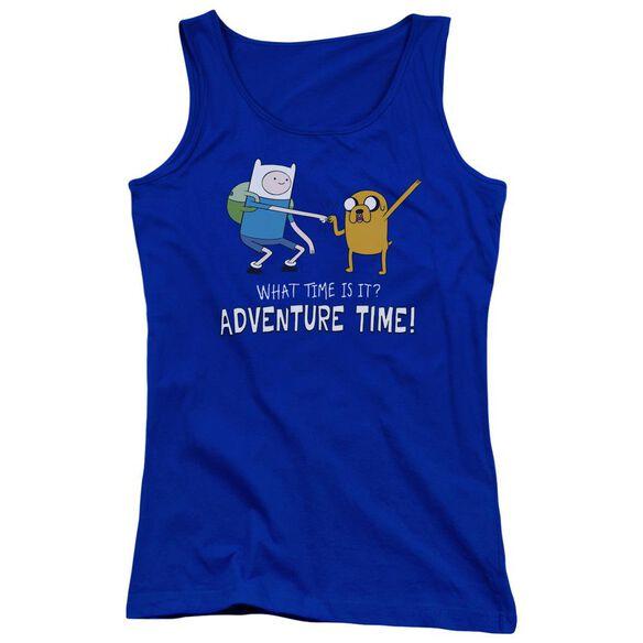 Adventure Time Fist Bump Juniors Tank Top Royal