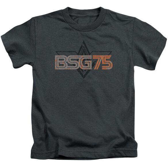 Battlestar Galactica Bsg75 Short Sleeve Juvenile Charcoal Md T-Shirt