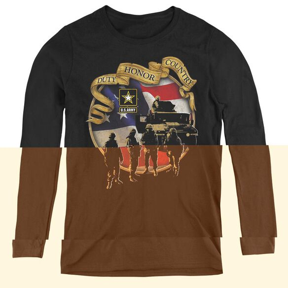 Army Duty Honor Country-womens Long