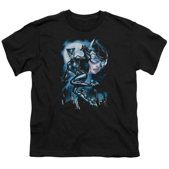 Batman Moonlight Cat Short Sleeve Youth T-Shirt