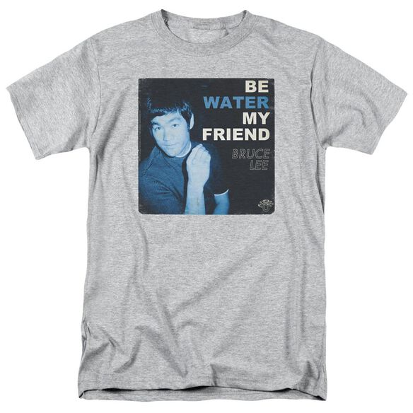 Bruce Lee Water Short Sleeve Adult Athletic Heather T-Shirt