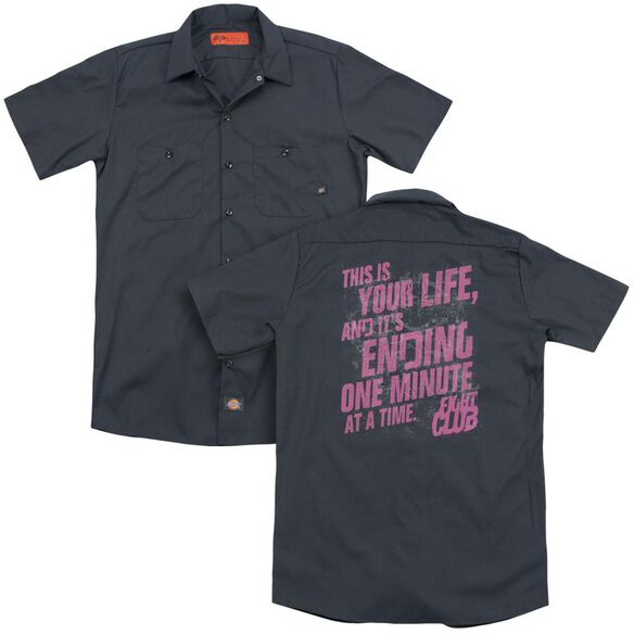 Fight Club Life Ending(Back Print) Adult Work Shirt
