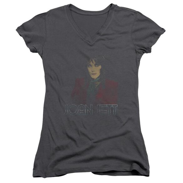Joan Jett Worn Jett Junior V Neck T-Shirt