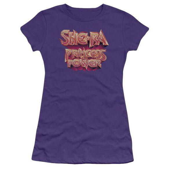 She Ra Logo Short Sleeve Junior Sheer T-Shirt