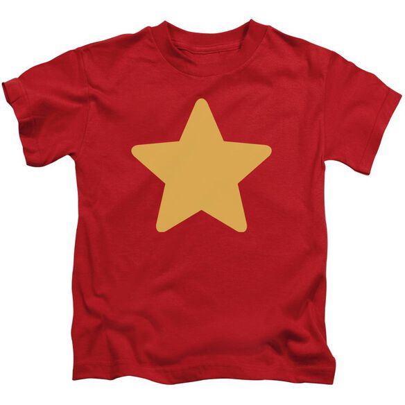 Steven Universe Star Short Sleeve Juvenile Red T-Shirt