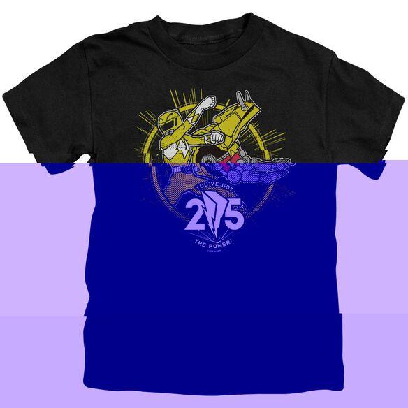 Power Rangers Yellow 25 Short Sleeve Juvenile T-Shirt