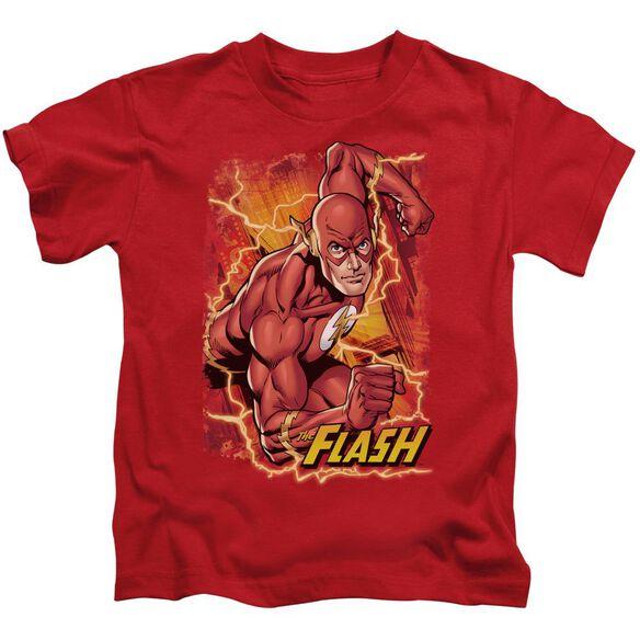 Jla Flash Lightning Short Sleeve Juvenile T-Shirt
