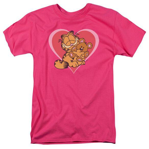 GARFIELD CUTE NCUDDLY - S/S ADULT 18/1 - HOT PINK T-Shirt