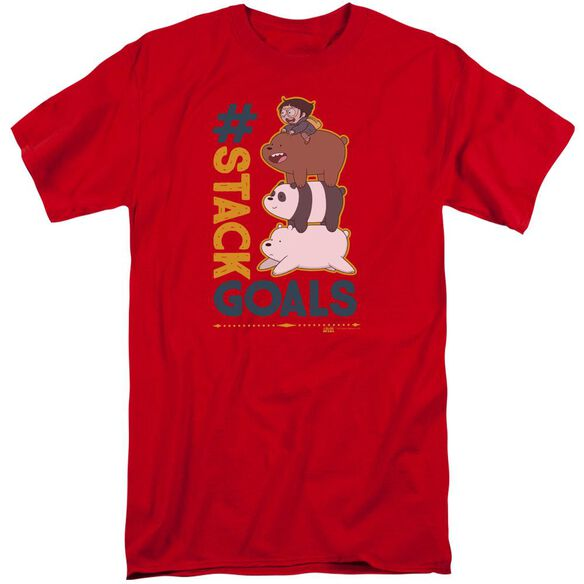 We Bare Bears Stack Goals Short Sleeve Adult Tall T-Shirt