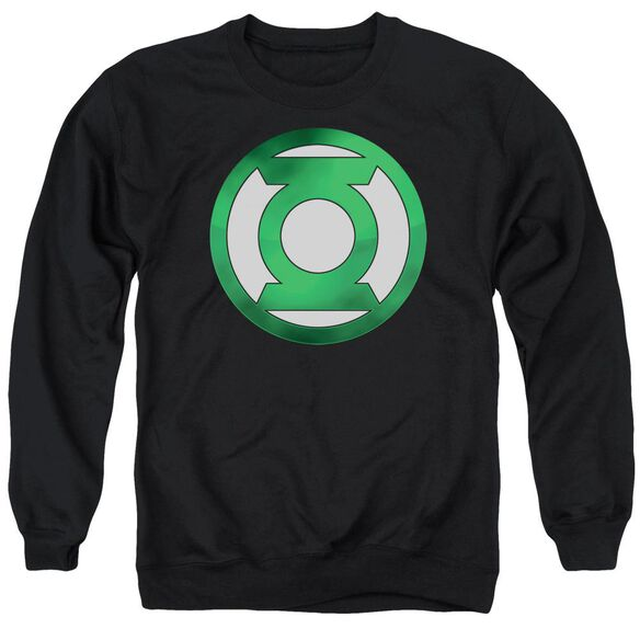 Green Lantern Green Chrome Logo Adult Crewneck Sweatshirt