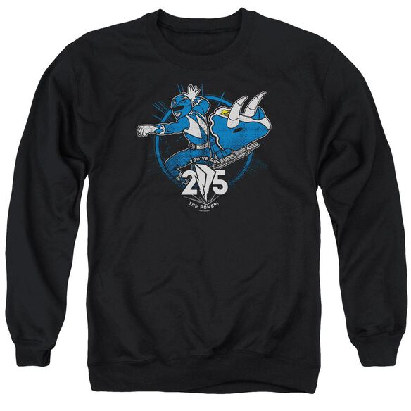 Power Rangers Blue 25 Adult Crewneck Sweatshirt