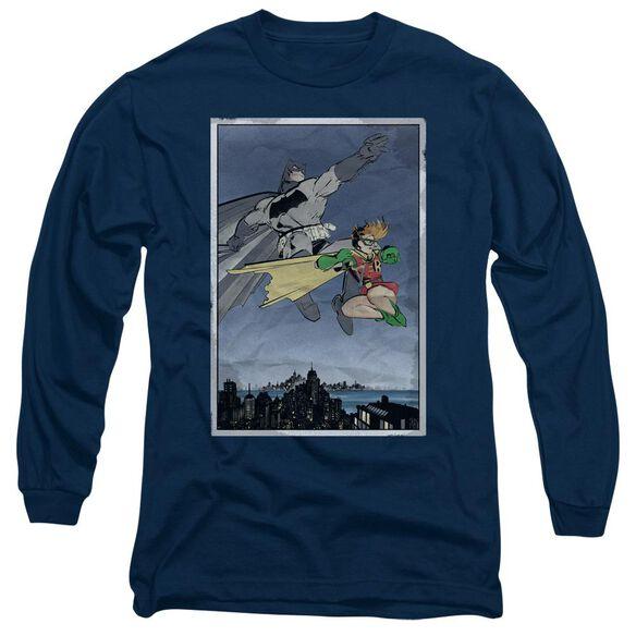 Batman Dkr Duo Long Sleeve Adult T-Shirt