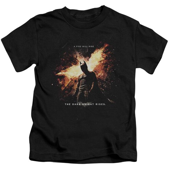 Dark Knight Rises Fire Will Rise Short Sleeve Juvenile Black Md T-Shirt