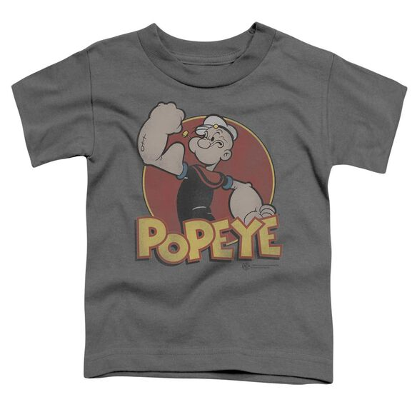 Popeye Retro Ring Short Sleeve Toddler Tee Charcoal Lg T-Shirt