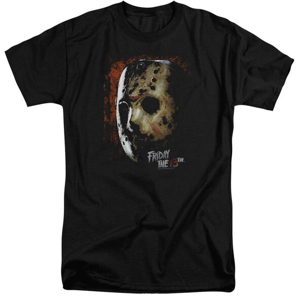 Friday The 13 Th Mask Of Death Short Sleeve Adult Tall T-Shirt