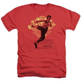 Bruce Lee Immortal Dragon - Adult Heather - Red