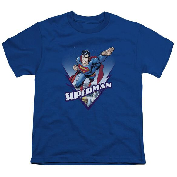 SUPERMAN LOOKS LIKE A JOB FOR - S/S YOUTH 18/1 - ROYAL BLUE T-Shirt