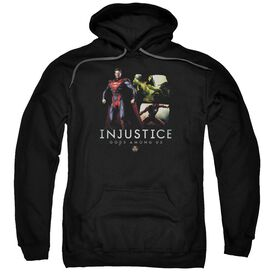 Injustice Gods Among Us Supermans Revenge Adult Pull Over Hoodie Black