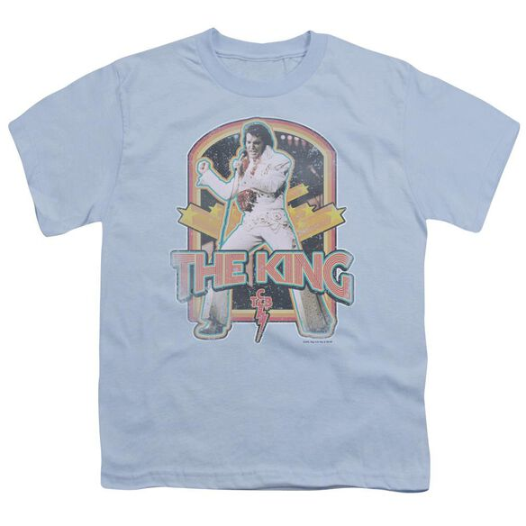 Elvis Distressed King Short Sleeve Youth Light T-Shirt