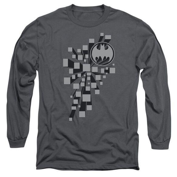 Batman Gotham 3 D Long Sleeve Adult T-Shirt