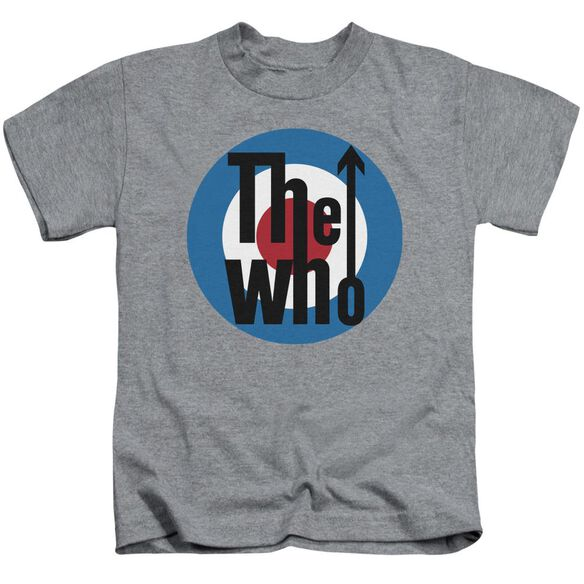 The Who Logo Short Sleeve Juvenile Athletic Heather T-Shirt