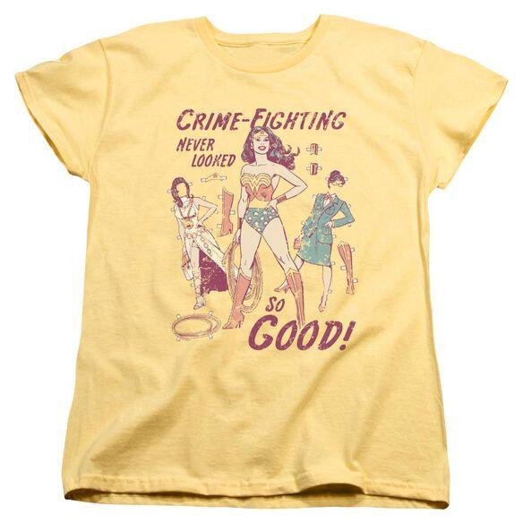 Dc Ww Paper Doll Short Sleeve Womens Tee T-Shirt