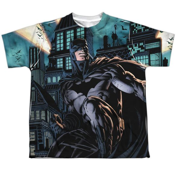 Batman Coming For You Short Sleeve Youth Poly Crew T-Shirt